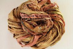 Sari Silk Vintage Tea Fair Trade 5 Yards OOAK by ArtwearElements