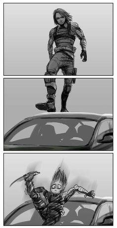 marvel avengers i don't wanna be your friend i wanna kiss your neck shit post book sobre el ship entre bucky barnes y steve rogers po. Funny Marvel Memes, Marvel Jokes, Dc Memes, Avengers Memes, Meme Comics, Marvel Avengers, Marvel Heroes, Marvel Comics, Films Marvel