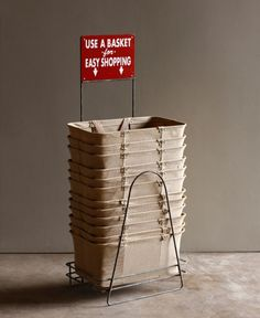 wire shopping basket holder