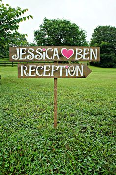 Arrow Wedding Signs Rustic Wedding Signs by CountryWeddingSigns, $50.00