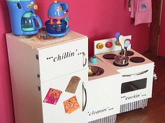 How to build toy appliances for a kids kitchen.