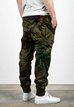 Male military pants with floral camouflaged by MM's (Creative Boys Club) & Affinity Creative Studio