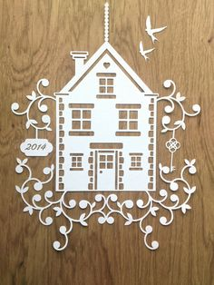 New Home Design  Papercutting Template to by TommyandTillyDesign
