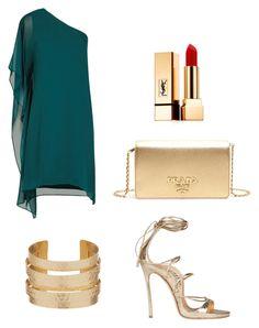 """Cocktail outfit"" by kelda-mbyeti on Polyvore featuring moda, BCBGMAXAZRIA, Dsquared2, Prada e Yves Saint Laurent"