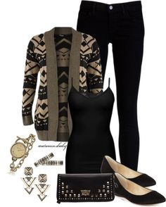 Cute, casual date night outfit.or everyday outfit :) Look Fashion, Fashion Outfits, Womens Fashion, Ankara Fashion, Tribal Fashion, Fashion Fall, Street Fashion, Fashion Trends, Fall Winter Outfits