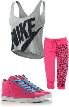 """workout outfit."" by aj1505 ❤ liked on Polyvore"