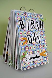 Birthday Card Calendar