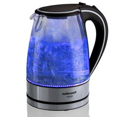 Mellerware – 1.7 Litre Vision 2 Cordless Glass Kettle – Blue Safety Switch, Futuristic Design, Heating Element, Kettle, Light Up, Cool Stuff, Stuff To Buy, Glass, Blue