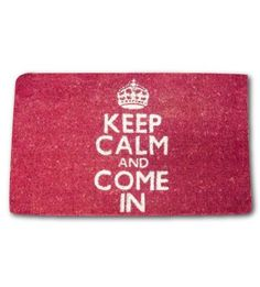 Door Mat, Coir Keep Calm and Come In by Decorative Things. Save 18 Off!. $39.99. A handsome doormat that references the British WWII slogan, Keep Calm and Carry On.. 27.5 x 15.7 inch doormats, rubber back for stability.. Made of natural coir from coconut husks.. Perfect outdoor mats. Withstand bad weather and prevent dirt from being tracked inside.. Whether you call them welcome mats or entrance mats, these Union Jack mats will welcome you home.. Keep Calm and Come In doormats. Designed...