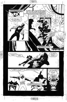 Ironwolf Comic Art by Mike Mignola.