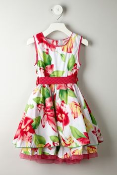 Floral Polka Dot Belt Dress on HauteLook
