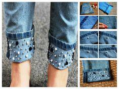 DIY Beaded Jeans!