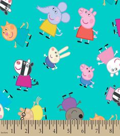 Peppa Pig? & Friends Print Fabric Peppa Pig Teddy, Peppa Pig Family, Fabric Shop, Joanns Fabric And Crafts, Fabric Online, Craft Stores, Mini Albums, Printing On Fabric, Crafts For Kids