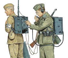 Figura alemán Radio Set