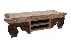 Komodo Long Solid Rustic Coffee Table (ICOF 12)