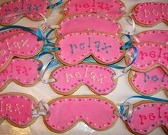 face mask cookies- great for a slumber party! kids