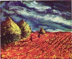 The harvest in the storm, 1946 by Maurice De Vlaminck (1876-1958 ...
