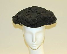 Hat | Lilly Daché (American, born France, 1904-1989) | Date: 1945 | Material: wool | The Metropolitan Museum of Art, New York