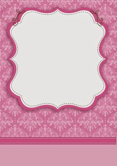 Damascos Rosa: Etiquetas para Candy Bar para Imprimir Gratis. Invitation Background, Paper Background, Text Background, Printable Lables, Free Printables, Candy Bar Labels, Pink Damask, Borders And Frames, Paper Frames