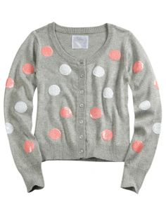 Pink & White Polka Dot Sweater by Justice