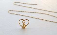 Pesonalized initial charm necklace  Any letter inside a by ARDONN, $29.50