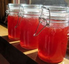 Orange marmalade in traditional jars