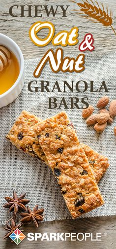 Coach Nicole's Chewy Oat & Nut Granola Bars Recipe. Our very own Coach Nicole's spin on a delicious granola bar. | via @SparkRecipes