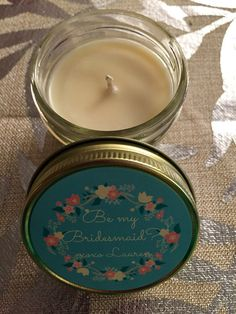 Will You Be My Bridesmaid Candle, Mason Jar, Soy, Customized, handmade Bridesmaid Candles, Bridesmaid Favors, Bridesmaid Proposal, Personalized Candles, Handmade Candles, Bar Mitzvah Party, Stand By You, Will You Be My Bridesmaid, Maid Of Honor