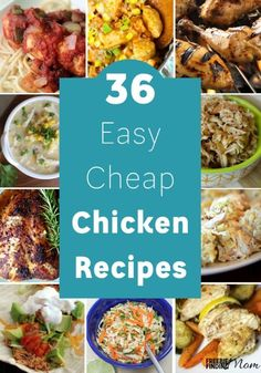 Need to put a nutritious and delicious meal for the family on the table fast? These 36 easy cheap chicken recipes are loaded with flavor and nutrients plus they won't break the bank or take all day to prepare. You'll find slow cooker chicken recipes, chicken casserole recipes, chicken pot pie recipes, chicken salad recipes, chicken soup recipes and more!