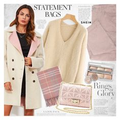 """""""Carry On: Statement Bags"""" by vanjazivadinovic ❤ liked on Polyvore featuring Tiffany & Co., Charlotte Russe, Hourglass Cosmetics, Stila, Sheinside, stripedpants, polyvoreeditorial and statementbags"""