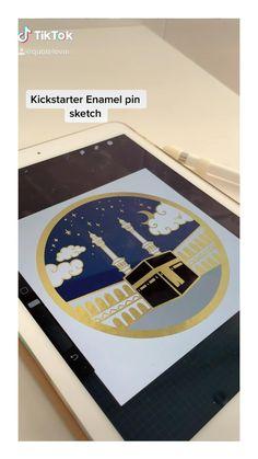 Drawing our kickstarter enanel pin...