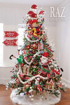 North Pole Village #2 Christmas Tree