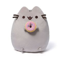Pusheen the Cat with Donut Plush - Gund - $19.99 - Plush at Entertainment Earth