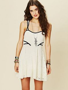 Sunny Side Eyelet Fit and Flare Dress