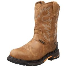 Ariat Men's Workhog RT Pull-on H2O Composite Toe Work Boot, Rugged Bark, 10.5 D US - http://authenticboots.com/ariat-mens-workhog-rt-pull-on-h2o-composite-toe-work-boot-rugged-bark-10-5-d-us/
