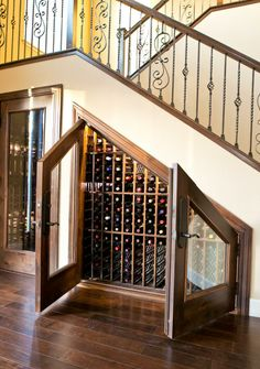 Wine Cellar Under the Stairs . Wine Cellar Under the Stairs . Wine Room Under the Stairs Goals Winestorage Under Stairs Wine Cellar, Wine Cellar Basement, Space Under Stairs, Cabinet Under Stairs, Under Staircase Ideas, Bar Under Stairs, Wine Rack Design, Cellar Design, Home Wine Cellars
