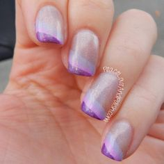 Peace, Love and Polish: The Digit-al Dozen Does Monochrome: Purple Holo French