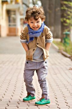 A well-dressed little man melts my little heart!