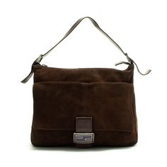 #Fendi brown #suede Big Mamma #handbag. Available at lxrco.com for $279