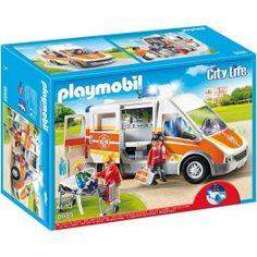 Playmobil 6685: Ambulancia. Precio: 42,95 € Disponible en: http://www.playmoclicks.com/es/city-action-espacio-policias-bomberos/264-ambulancia-primeros-auxilios.html