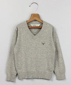 Another great find on #zulily! Beebay Gray V-Neck Sweater - Infant, Toddler & Boys by Beebay #zulilyfinds