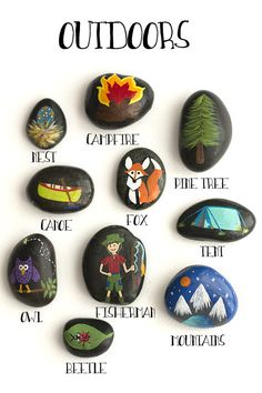 I first created Story Stones for my 5 year old. She has a HUGE imagination and I wanted to help that to grow and flourish. Story stones are perfect for helping children cultivate their creativity, teachers looking for something new, a teacher gift, or anytime! I keep a large bowl of them on my coffee table for anyone and everyone to play with. _______________________________________________________________________________ INCLUDES What you will receive after purchase: Story Stones: -1 set...