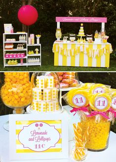 Lemonade & Lollipop Shoppe {Joint Birthday Party}