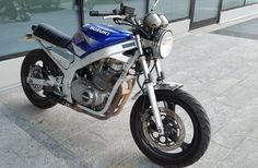 Suzuki GS500 my way step 1. I hope in the future to have time and money to refine more details. #special #cityscrambler