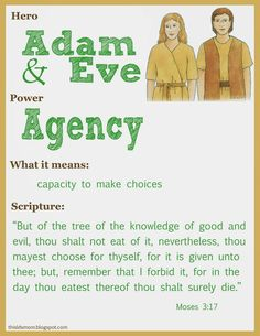 Scripture Heroes: Adam and Eve Fhe Lessons, Bible Lessons For Kids, Bible For Kids, Adam Et Eve, Bible Heroes, Lds Scriptures, Church Activities, Primary Activities, Family Activities