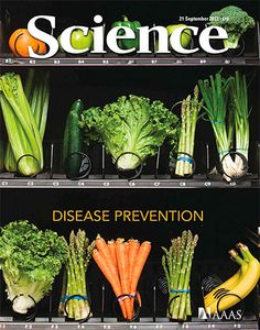 vending machine filled with healthy substitutes for highly processed foods - Science Magazine's cover from Sept, 2012