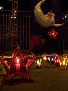 Lanterns on Paseo El Carmen, Santa Tecla. El Salvador. Foto: Ana Silva
