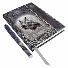 Owl Spell Book with Pen - $14.99 - This fantastic embossed journal has a wintry feel, and provides the perfect place to jot down important spells... or anything else you want to keep recorded!