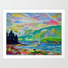 Buy Summer Sailing, Denman Art Print by morganralston. Worldwide shipping available at Society6.com. Just one of millions of high quality products available.