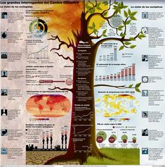 50 Informative and Well-Designed Infographics - Hongkiat - The big questions of. - 50 Informative and Well-Designed Infographics – Hongkiat – The big questions of climate change - Global Warming Climate Change, Global Citizenship, How To Create Infographics, Infographics Design, Climate Change Effects, Information Graphics, Sustainable Development, Environmental Science, Earth Science